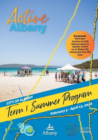 Active Albany Term 1 Summer Program 2018 image