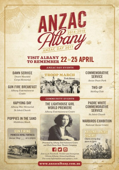 ANZAC DAY EVENT  PROGRAM 2017  image