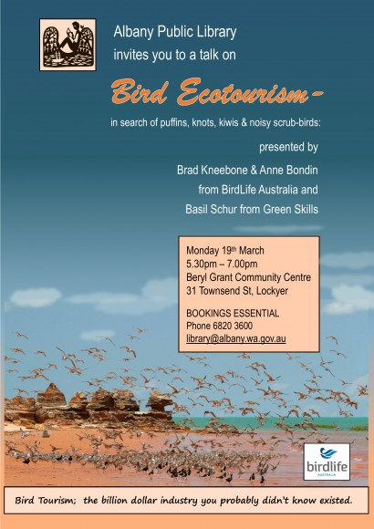 Bird Ecotourism – in search of puffins, knots, kiwis and noisy scrub-birds image