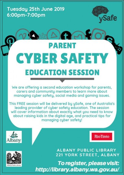 Cyber Safety For Parents - Back by popular demand!  image
