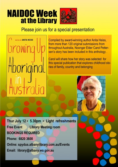 Growing up aboriginal. Special Presentation with Noongar Elder Carol Pettersen image