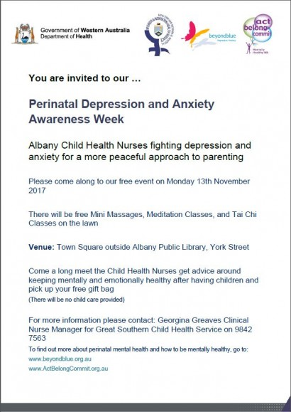 Perinatal Depression and Anxiety Awareness Week image