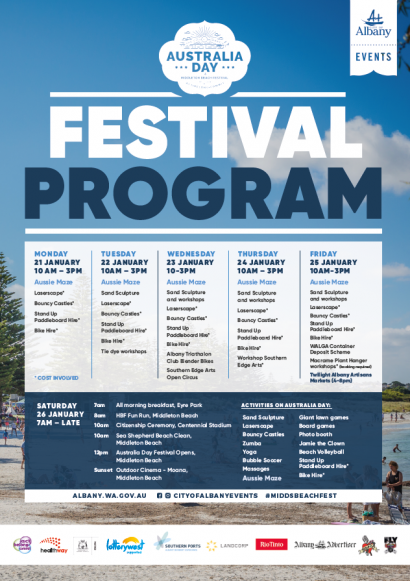 Middleton Beach & Australia Day Festival 2019 image