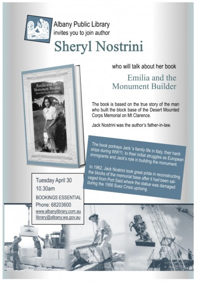 Emilia and the Monument Builder – Author Talk with Sheryl Nostrini image