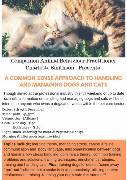A Common Sense Approach to Handling and Managing Dogs and Cats image