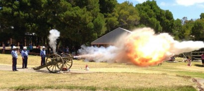 Nine Pound Gun Firing image