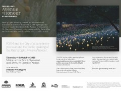 Field of Light: Avenue of Honour Public Opening Invitation image