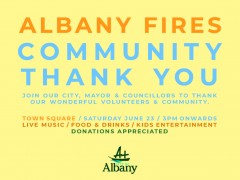 Albany Fires Community Thank You image