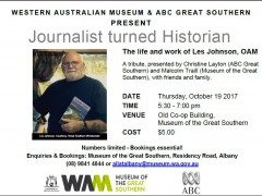 Western Australian Museum & ABC Great Southern Present: Journalist turned Historian image