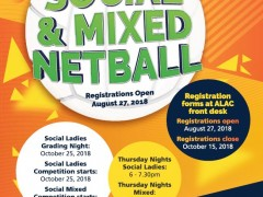 Summer Social Ladies & Mixed Netball Competition image