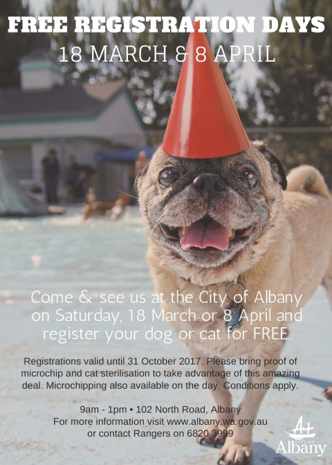 FREE registration for pet owners image