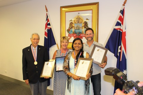 Citizens awarded on Australia Day image