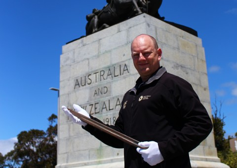 Stolen statue bayonet returned image