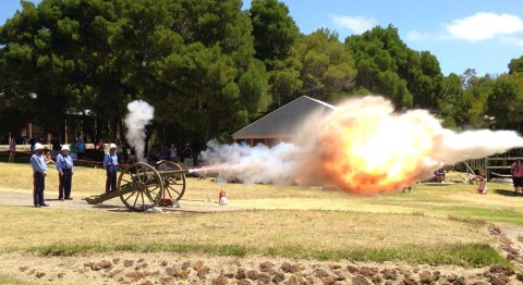 Gun salute to Albany's military heritage image
