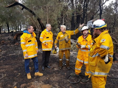 City thanks community for fire support image